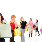Shopping isolated group